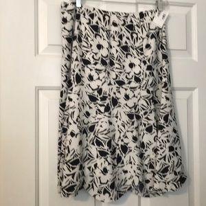 New Silk skirt with tulip hem.  Lined.